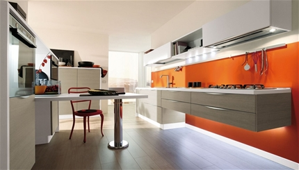 Extramobili arredamenti a bergamo cucine moderne for Pareti colorate moderne
